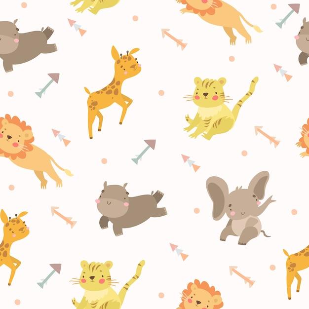 Setas de safari de animais padrão Vetor grátis