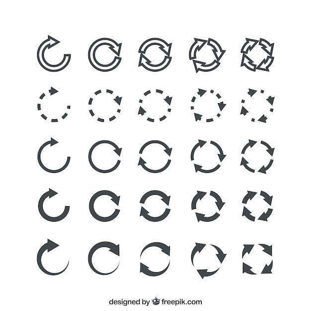 Setas redondas Vetor grátis