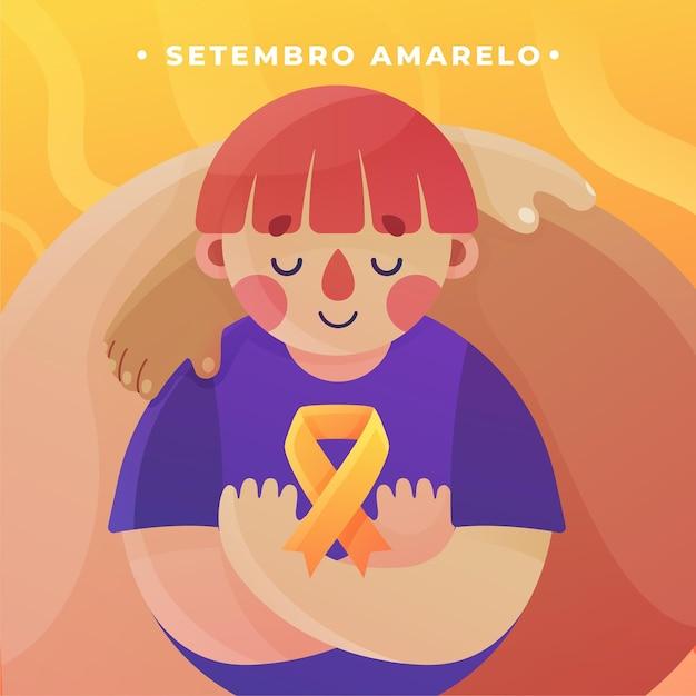 Setembro amarelo Vetor grátis