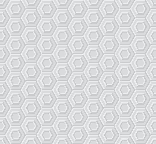 Sexangle light 3d padrão geométrico Vetor Premium