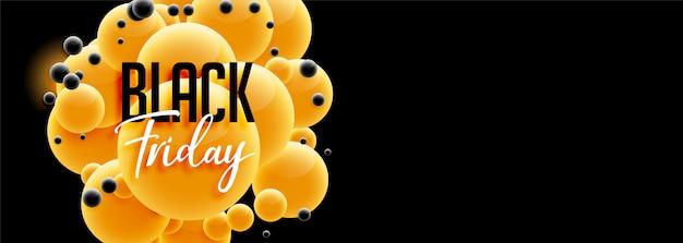 Sexta-feira negra bonita banner design em estilo 3d Vetor grátis
