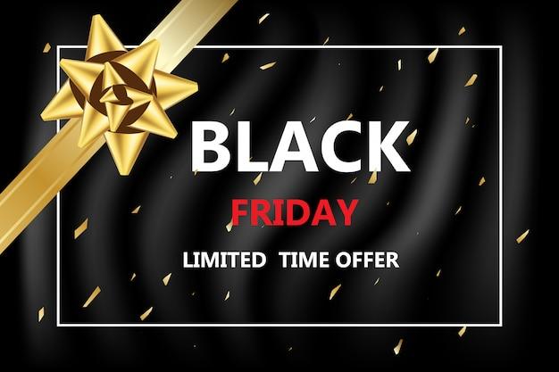 Sexta-feira negra com desconto para banner on-line de compras à venda Vetor Premium