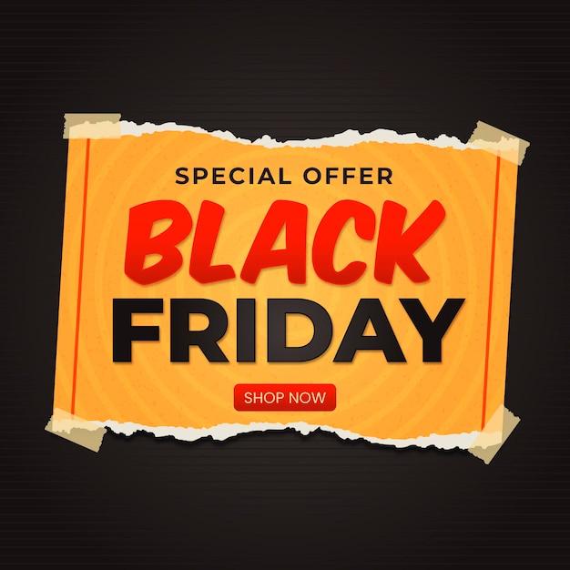 Sexta-feira negra em estilo jornal Vetor Premium