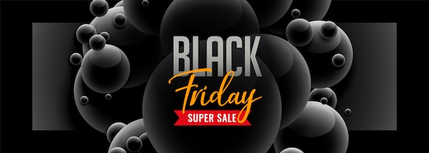 Sexta-feira negra estilo 3d venda banner Vetor grátis