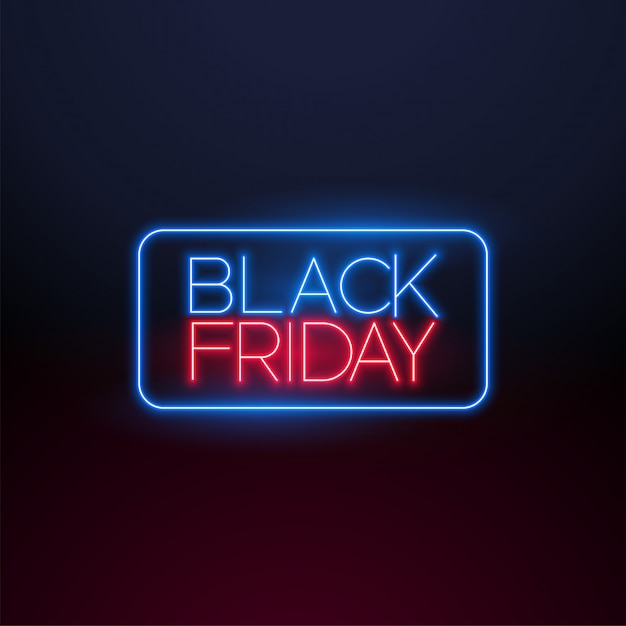 Sexta-feira negra luz de neon Vetor grátis