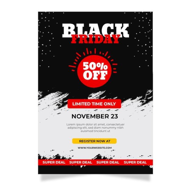 Sexta-feira negra mão desenhada panfleto Vetor grátis