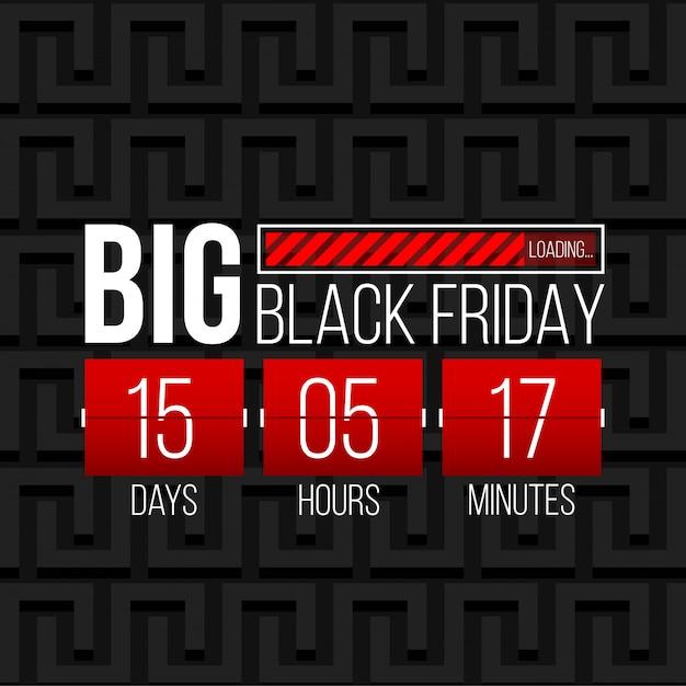 Sexta-feira negra oferta especial venda banner fundo. Vetor Premium