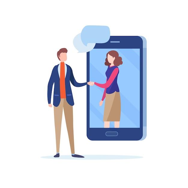 Shake de mão de pessoas de negócios Vetor Premium