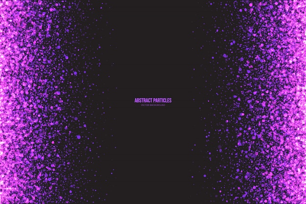 Shimmer purple particles abstract vector background Vetor Premium