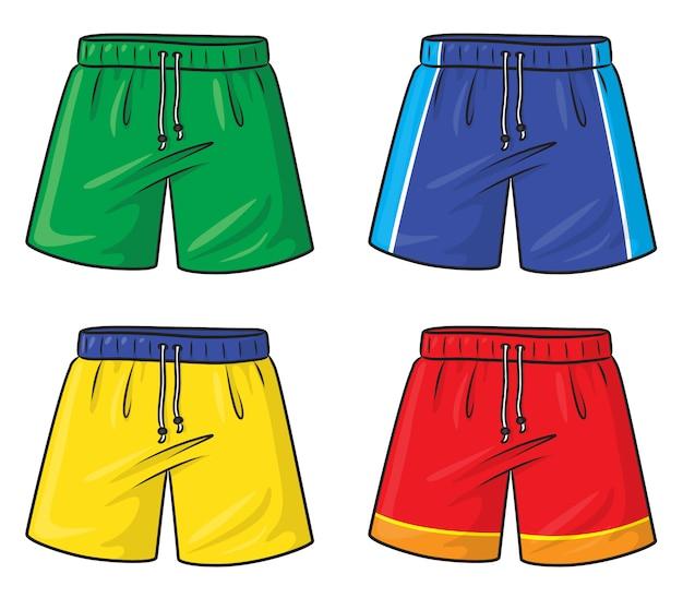 Shorts cartoon Vetor Premium