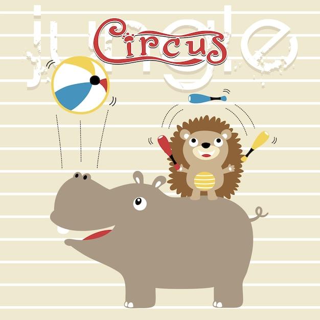 show de circo com desenhos animados de animais engraçados baixar