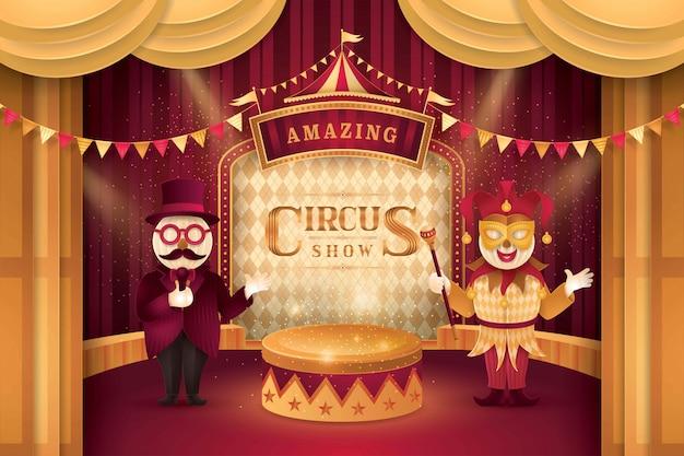 Show de circo Vetor Premium