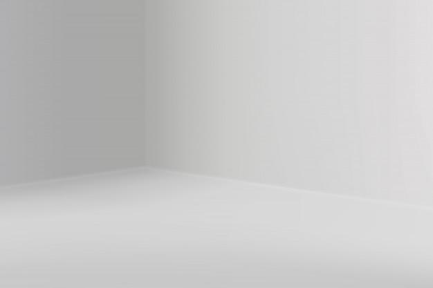 Show room vazio com canto quadrado Vetor Premium