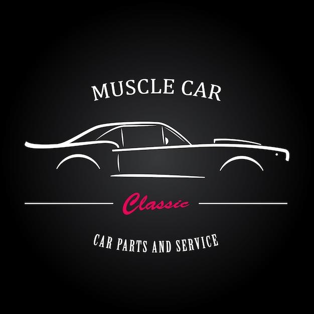 Silhueta do carro do músculo Vetor Premium