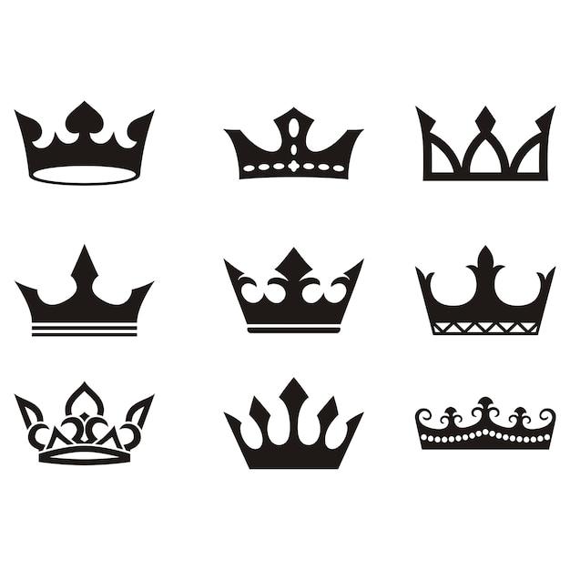 european crown silhouette vector vector free download