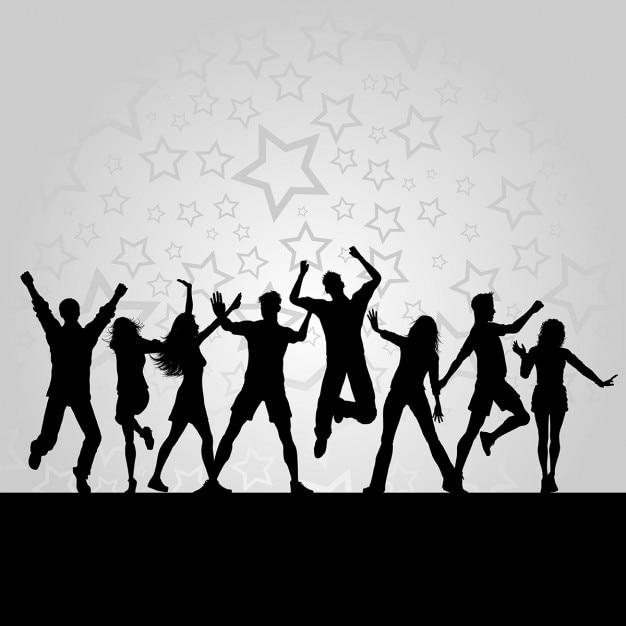 silhuetas de pessoas dan u00e7ando em um fundo estrelado vector gold dancer silhouette flamenco dancer silhouette vector