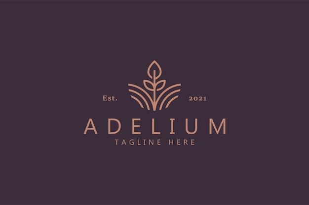 Símbolo abstrato da flor da beleza. identidade da marca do logotipo feminino premium. natural, jardim, spa, joias, produto de moda e modelo de negócios. Vetor Premium