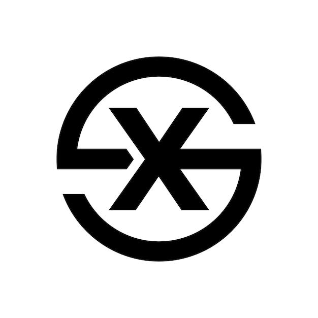 Símbolo da letra stylus s combinação com a letra x Vetor Premium