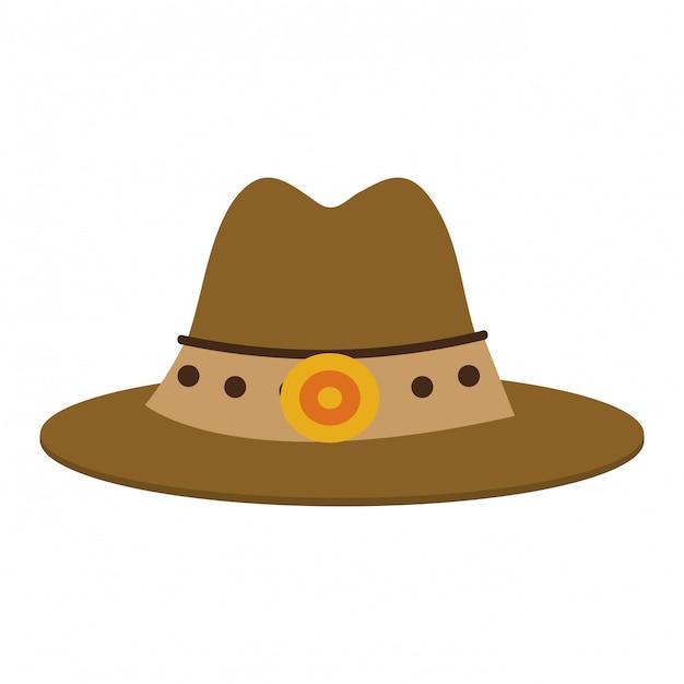 Símbolo de chapéu de cowboy Vetor Premium
