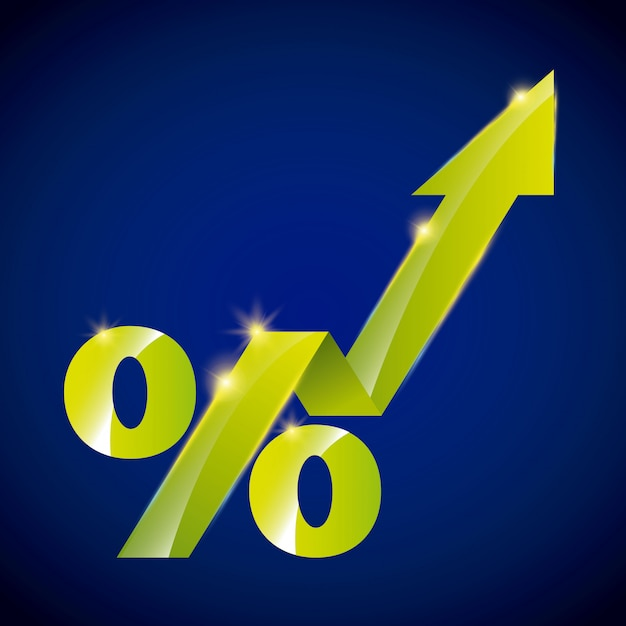 Símbolo de crescimento Vetor Premium