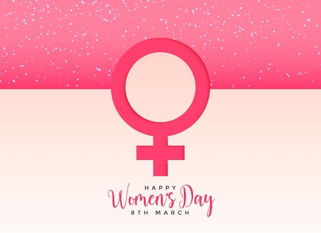 Símbolo de gênero feminino em fundo rosa bonito Vetor grátis