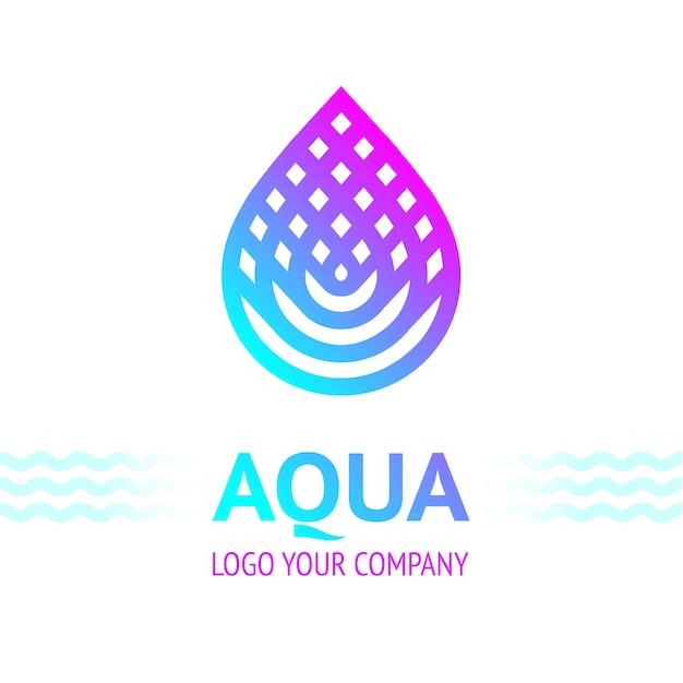 Símbolo de gota de água, ícone de modelo de logotipo para seu projeto Vetor Premium