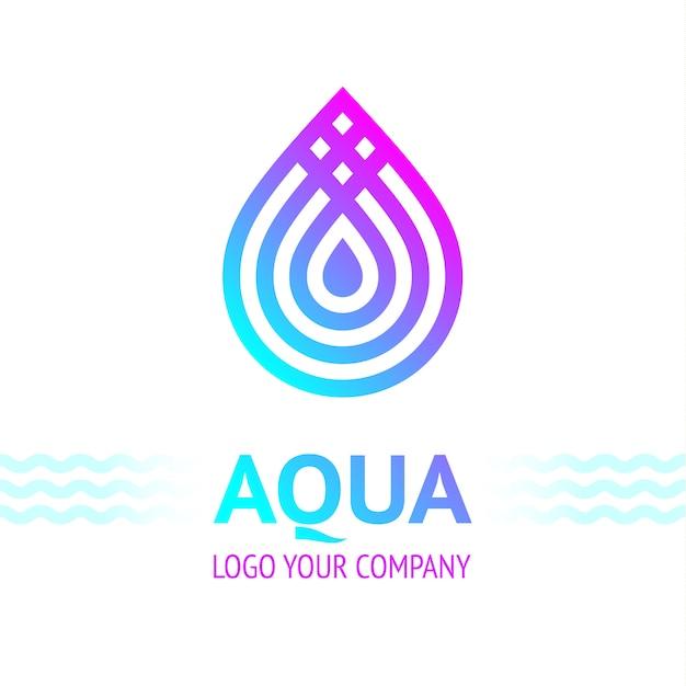 Símbolo de gota de água para logotipo Vetor Premium