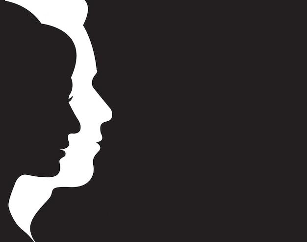 Símbolo de homem e mulher Vetor Premium