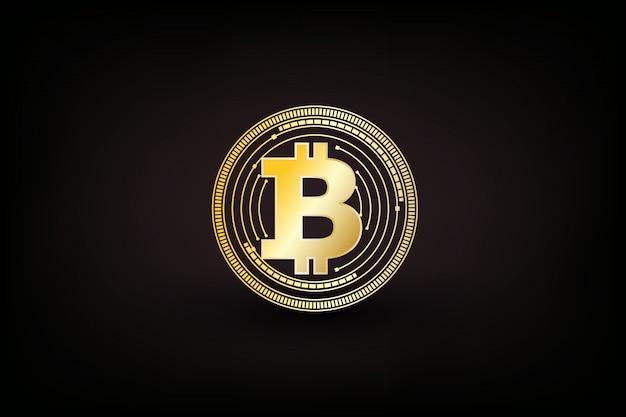 Símbolo de moeda digital bitcoin isolado Vetor Premium