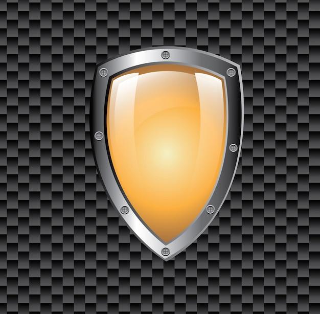 Símbolo de proteção do escudo Vetor grátis