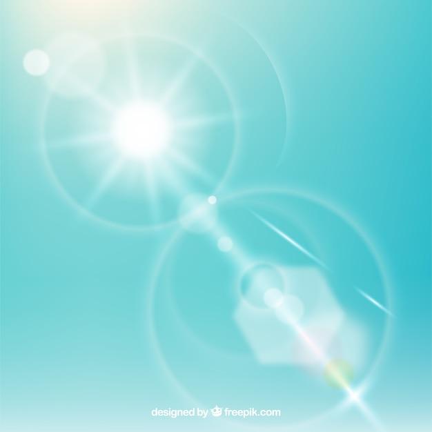 Símbolo de reflexo de lente infinito com céu Vetor grátis