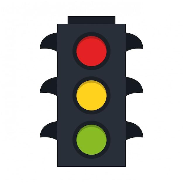 Símbolo de semáforos Vetor Premium