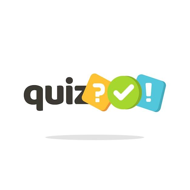 Símbolo do ícone do logotipo do questionário Vetor Premium