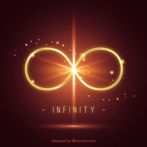 Símbolo do infinito com efeito de reflexo de lente Vetor grátis