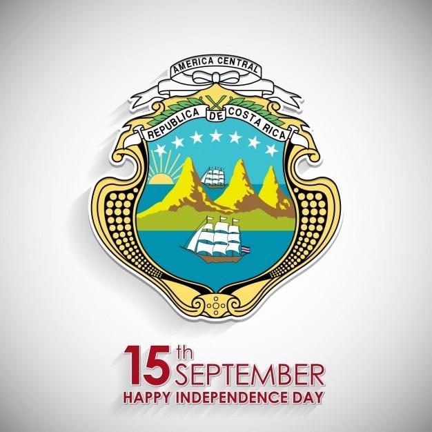 Símbolo nacional dia 15 de setembro costa rica Vetor grátis