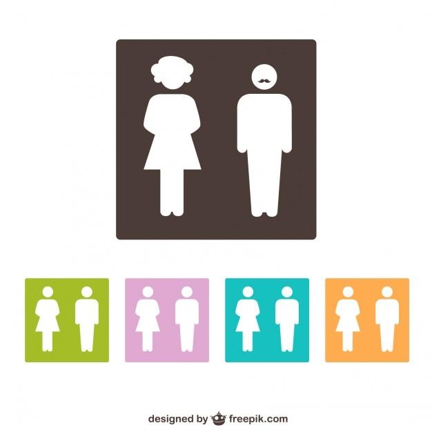Símbolos banheiro gênero  Baixar vetores grátis # Banheiro Masculino E Feminino Vetor Gratis