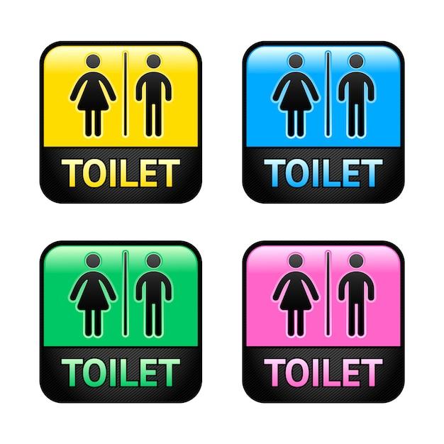 Símbolos de banheiro Vetor Premium