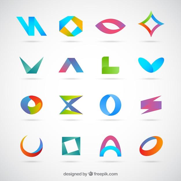Símbolos planas sem desenho abstrato Vetor grátis