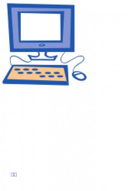 Simples de computador Vetor grátis