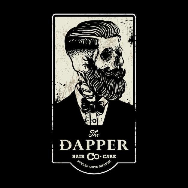 Sinal de barbearia vintage Vetor Premium