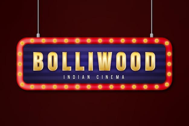Sinal de cinema de bollywood realista Vetor grátis