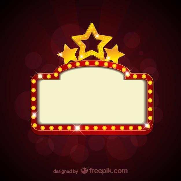 Sinal de cinema em branco Vetor grátis