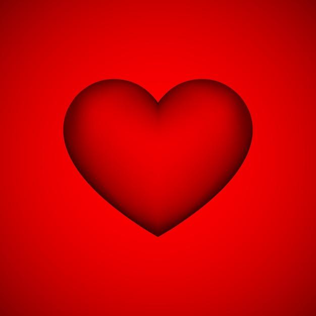 Sinal de coração abstrato vermelho Vetor Premium