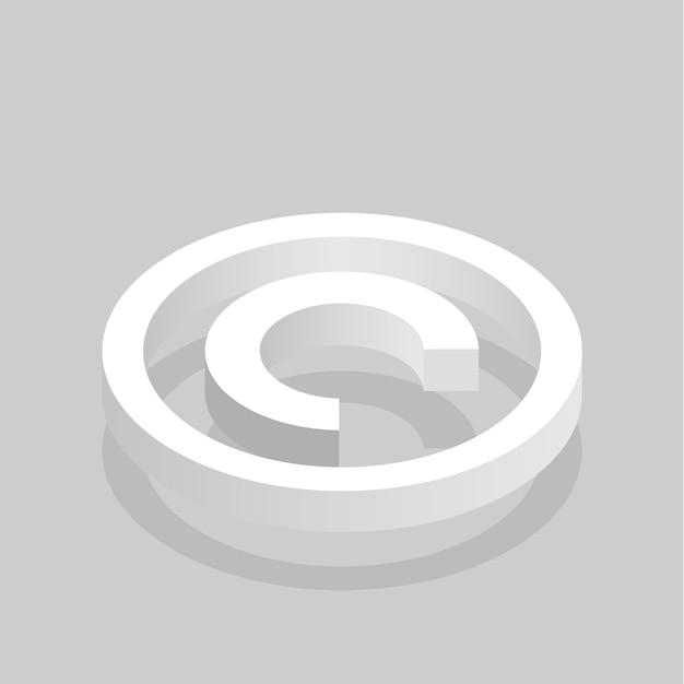 Sinal de direitos autorais Vetor grátis