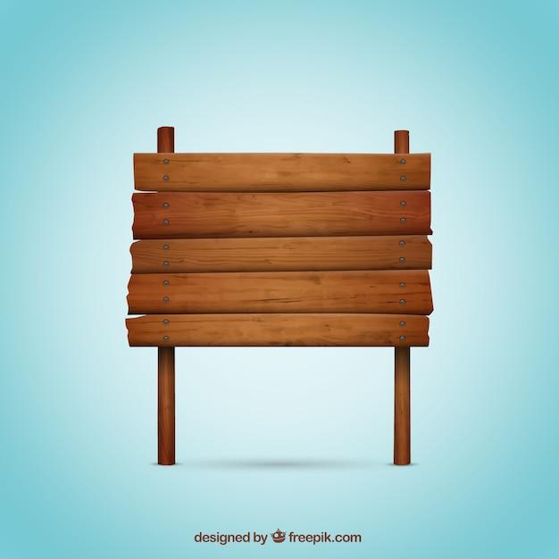 Sinal de madeira Vetor grátis