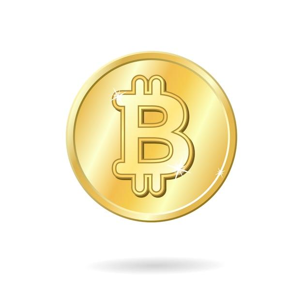 Sinal de moeda bitcoin Vetor grátis