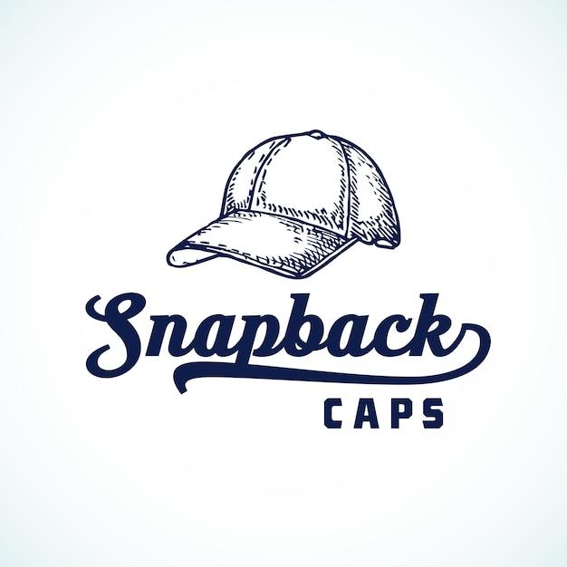 Sinal, símbolo ou logotipo abstrato do snapback caps Vetor grátis