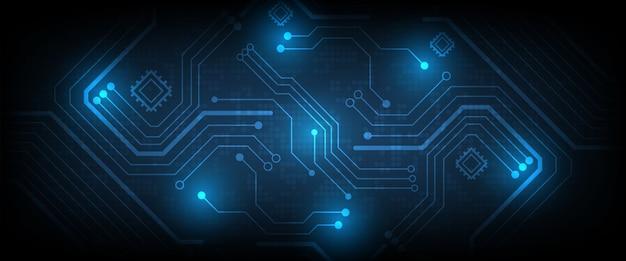 Sistema de conexão de dados digitais de alta tecnologia Vetor Premium