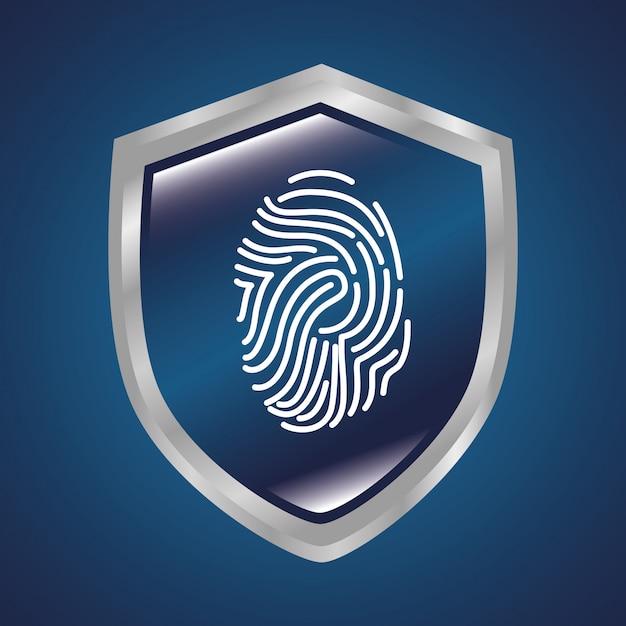 Sistema de segurança de vigilância Vetor Premium