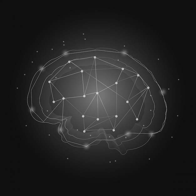 Sistema nervoso humano Vetor grátis